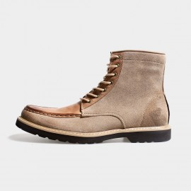 Herilios Hiker Style Suede Ankle Apricot Boots (H3305G38)