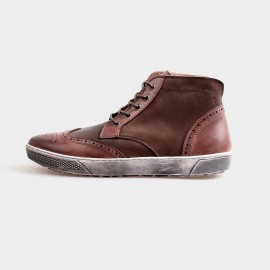 Herilios Grunge Ankle Brown Sneakers With Ash Soles (H4205G24)