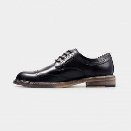 Herilios Glossy Leather Black Lace Up With Stitched Soles (H4305D28)