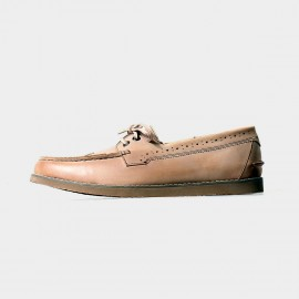 Herilios Butterfly Bowknot Leather Apricot Loafers With Hollow Details (H5105D01)