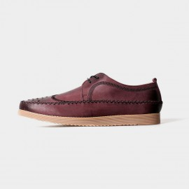 Herilios Cross-Stitched Leather Red Lace Up (H5105D03)
