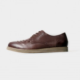Herilios Brown Lace Up With Leather Stitches Details (H5105D04)