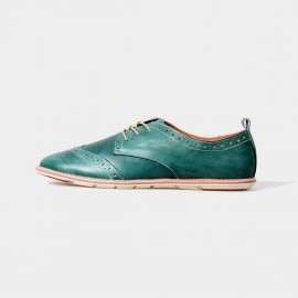 Herilios Misty Oxford Green Lace Up With Rubber Soles (H5105D11)