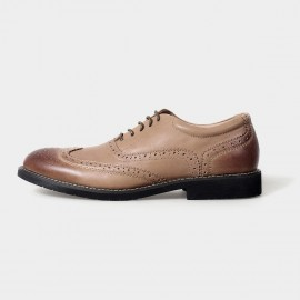 Herilios Yuppies Oxford Leather Apricot Lace Up With Lined Openings And Tanned Details (H5105D29)