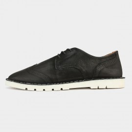 Heriliios Cool Chic Leather Black Casual Shoes (H5305D50)