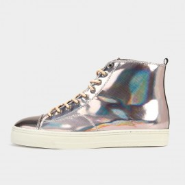 Herilios Simple Chic Ankle Silver Hi-Tops (H5305G46)