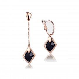Caromay Dawn Uneven Long Rose Gold Earrings (E0175-1)