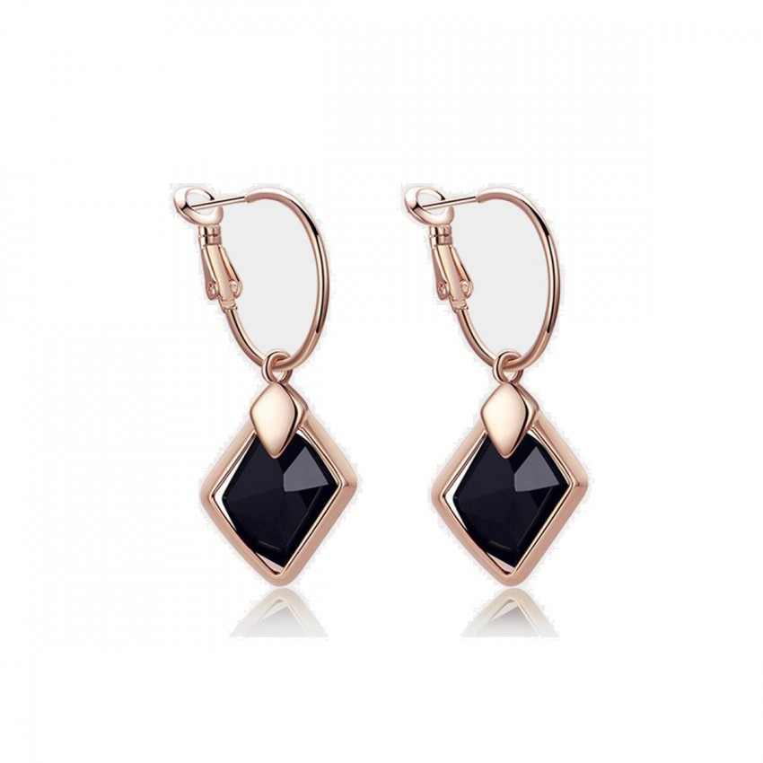 Caromay Dawn Short Rose Gold Earrings (E0175-3)