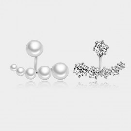 Caromay Moon Bay Uneven Silver Earrings (E0473)