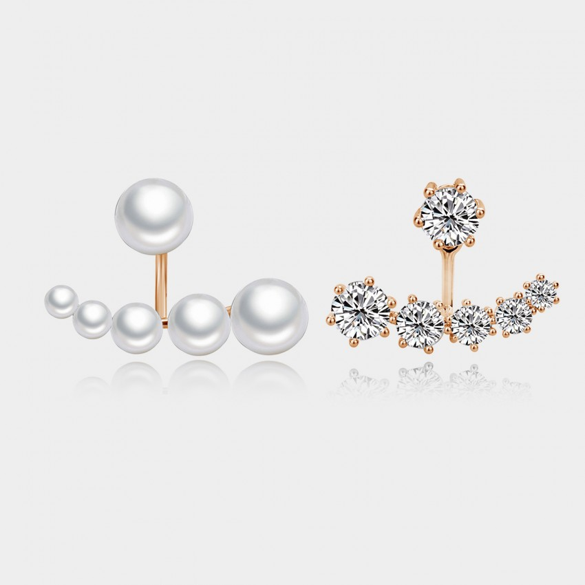 Caromay Moon Bay Uneven Rose Gold Earrings (E0473)