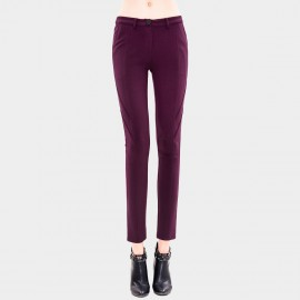 Vanilla Chocolate Pencil Wine Trousers (V433344752)