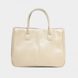 Chancebanda Shiny Textured Cream Top Handle Bag (002)