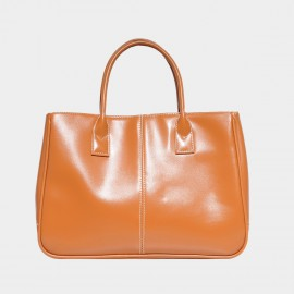 Chancebanda Shiny Textured Light Camel Top Handle Bag (002)