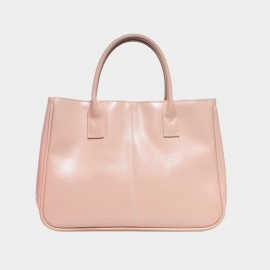Chancebanda Shiny Textured Nude Top Handle Bag (002)