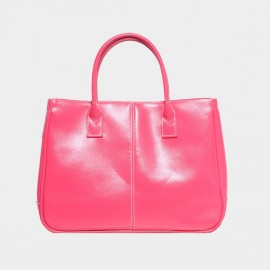 Chancebanda Shiny Textured Peach Top Handle Bag (002)