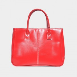 Chancebanda Shiny Textured Red Top Handle Bag (002)