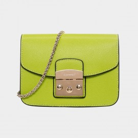 Cannci Push Lock Leather Lemon Shoulder Bag (H21462)