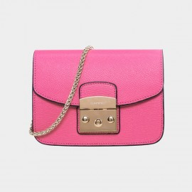 Cannci Push Lock Leather Rose Shoulder Bag (H21462)