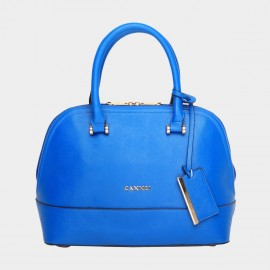 Cannci Embellished Tag Blue Top Handle Bag (L31310)