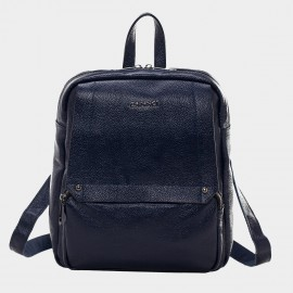 Cannci Multi-Zip Leather Navy Backpack (M11379)