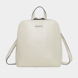 Cannci Handbag Style Leather Cream Backpack (M11458)