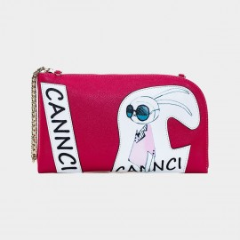 Cannci Cartoon Style Leather Red Shoulder Bag (O11515)