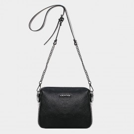 Cannci Metallic Accent Leather Silver Shoulder Bag (Y11474)