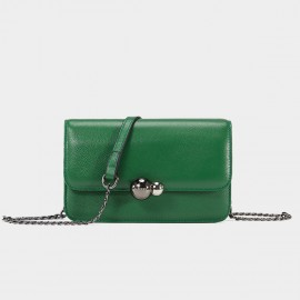 Cannci Twin Metallic Sphere Leather Green Shoulder Bag (H51539)