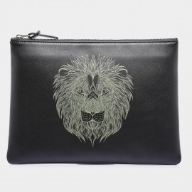 U.Life Large Lion Black Handbag (S1003U-L)