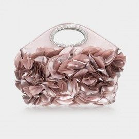 Top Beauty Textured Pink Clutch (TB0071)