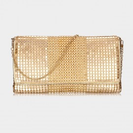 Top Beauty Bead & Sequin Gold Clutch (TB0085)