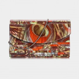 Top Beauty Patchwork Coffee Clutch (TB0089)