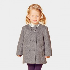 Pepevega A-line Double-breasted Grey Coat (A44SW214)