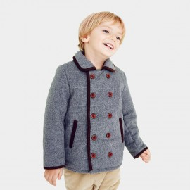Pepevega Full Button Double-breasted Grey Jacket (A54SM705)