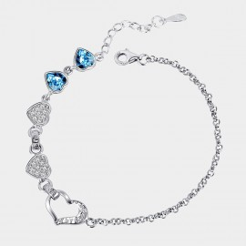 SEVENTY 6 Side By Side Ocean Blue Bracelet (3455)