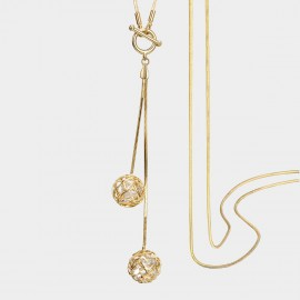 SEVENTY 6 Reunited Love Gold Long Chain (7264)