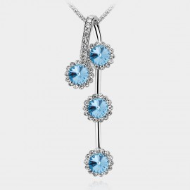 SEVENTY 6 Chrysanthemum Ocean Blue Long Chain (7838)