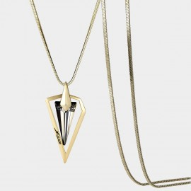 SEVENTY 6 Spire Black Long Chain (7976)