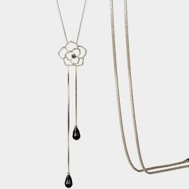SEVENTY 6 Clivia Black Long Chain (7989)