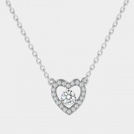 SEVENTY 6 Icy Heart White Necklace (10887)