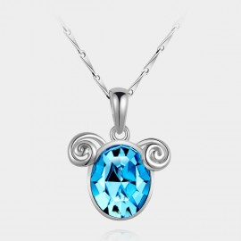 SEVENTY 6 Aries Ocean Blue Necklace (10738B)