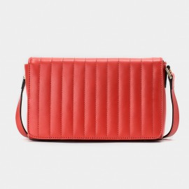 Jessie & Jane Double Sided Quilted Texture Leather Red Shoulder Bag (JJ15FFF1006)