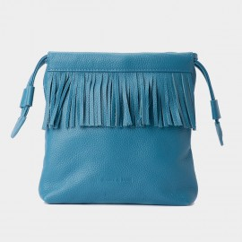 Jessie & Jane Pastel Tassel Drawstring Blue Shoulder Bag (JJ15SSF1082)