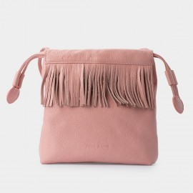 Jessie & Jane Pastel Tassel Drawstring Pink Shoulder Bag (JJ15SSF1082)
