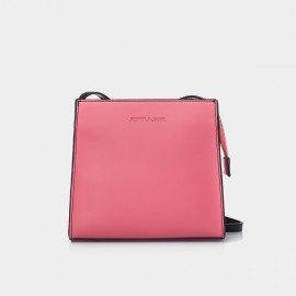 Jessie & Jane Regular Trapezoidal Leather Pink Shoulder Bag (JJSBD14091)