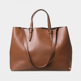 Jessie & Jane Retro Chic Leather Camel Tote Bags (TMJ14FF1045)