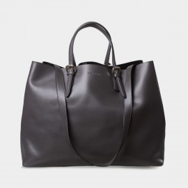 Jessie & Jane Retro Chic Leather Grey Tote Bags (TMJ14FF1045)
