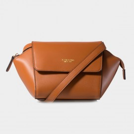 Jessie & Jane Vintage Dumpling Leather Brown Shoulder Bag (TMJ14FF1080)