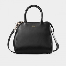 Jessie & Jane Dimple Leather Black Top Handle (TMJ14SF1121)