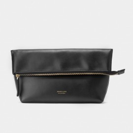 Jessie & Jane Origami Leather Black Shoulder Bag (TMJ15FF1065)